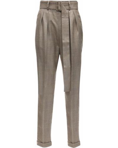 С завышенной талией брюки с поясом с манжетами Agnona
