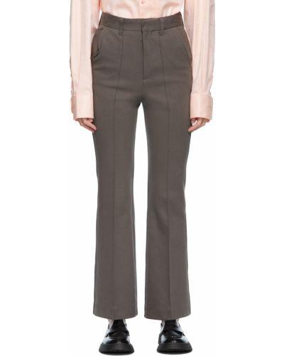 Białe spodnie z paskiem bawełniane Ader Error