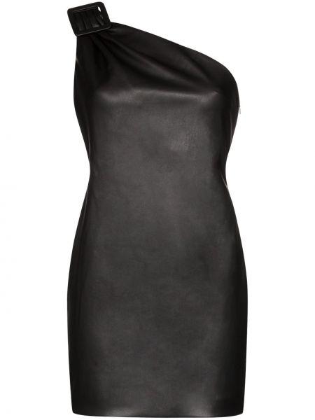 Приталенное кожаное платье мини We11done