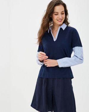 Блузка с длинным рукавом синяя Ovs