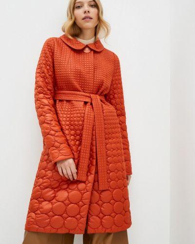 Коричневая утепленная куртка Anna Verdi