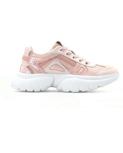 Кроссовки на платформе розовый с перфорацией Maje