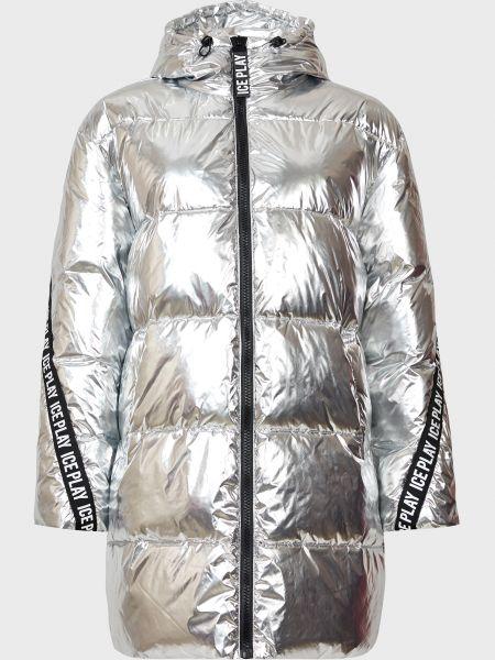 Серебряная куртка на молнии Ice Play