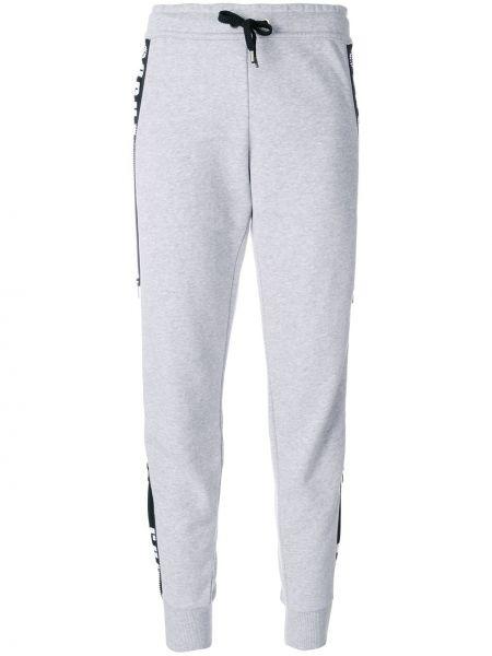 Хлопковые спортивные брюки - серые Versus