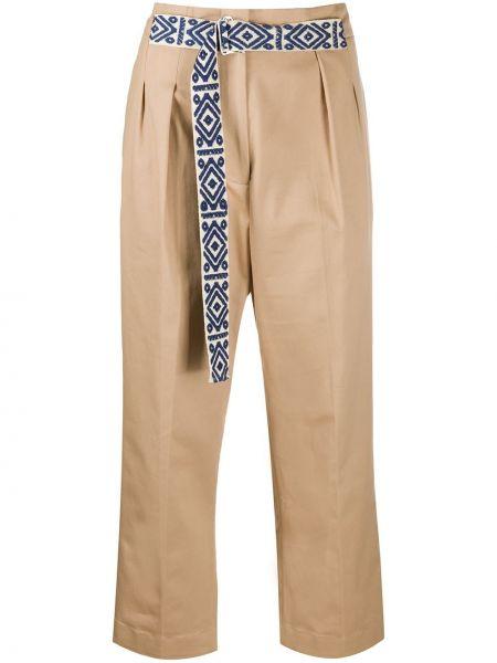 Укороченные брюки с завышенной талией с поясом Mira Mikati
