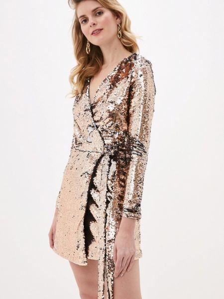 Вечернее платье осеннее золотой Imocean