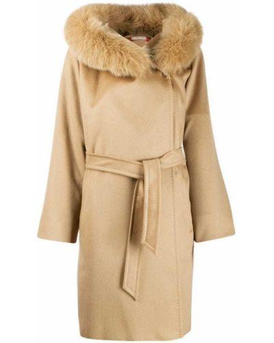 Пальто без воротника шерстяное Max Mara Studio