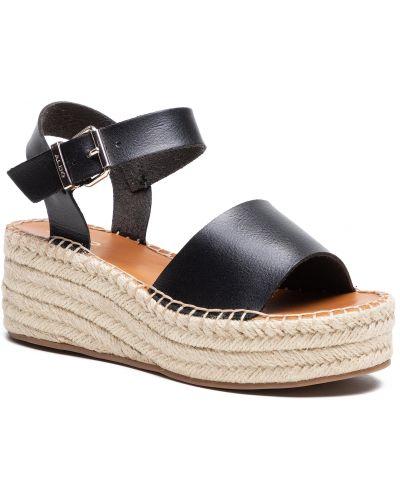 Czarne sandały espadryle Aldo