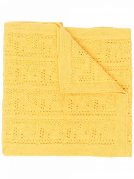 Z kaszmiru szalik - żółty Fendi