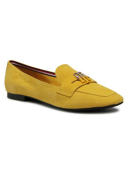 Lordsy zamszowe - żółte Tommy Hilfiger
