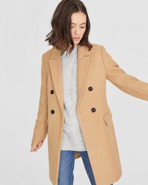 Пальто бежевое пальто Stradivarius