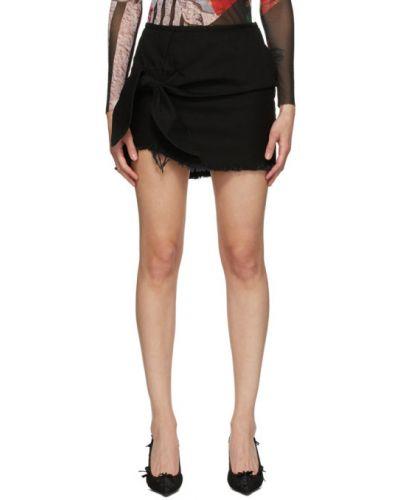 Asymetryczny czarny spódnica mini z kieszeniami Marques Almeida