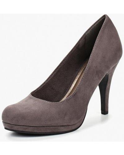 Туфли на каблуке замшевые осенние Tamaris