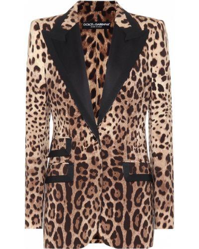 Bawełna brązowy wełniany blezer Dolce And Gabbana