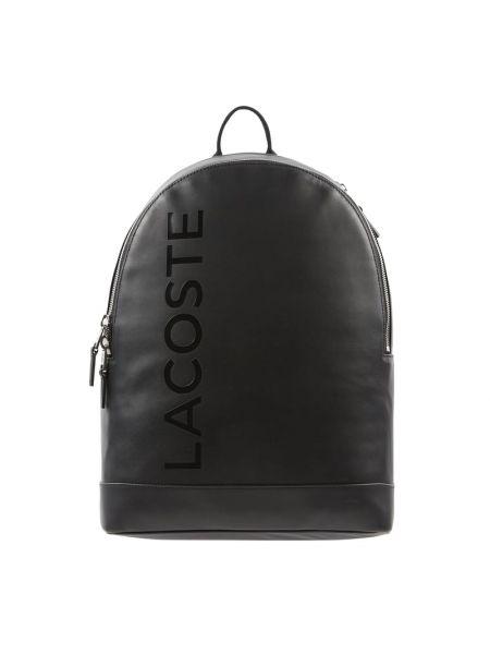Skórzany plecak na paskach Lacoste