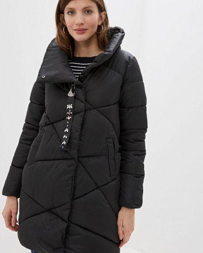 Зимняя куртка утепленная черная Moki