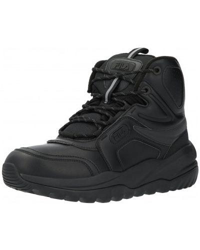 Спортивные высокие кроссовки - черные Fila
