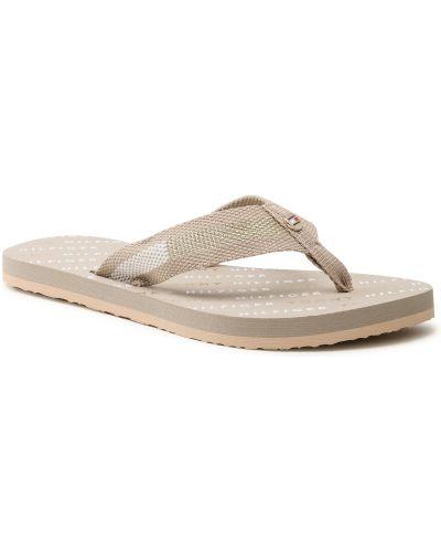 Szare sandały japonki Tommy Hilfiger