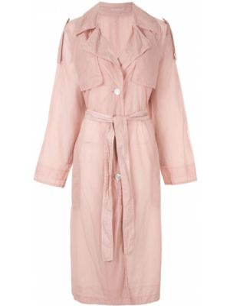 Нейлоновое розовое пальто классическое на пуговицах Blueflag + Kiminori Morishita