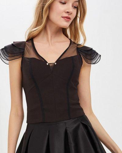 Блузка с коротким рукавом черная весенний Love Republic