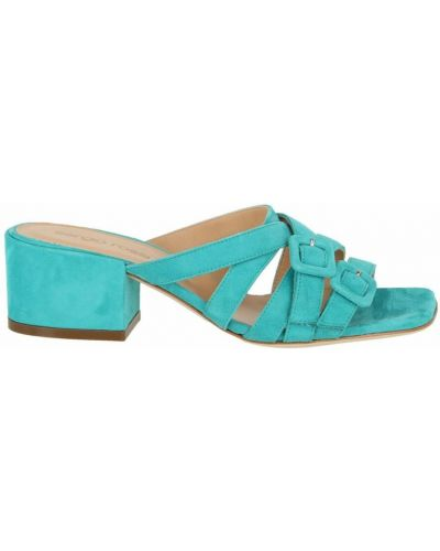 Niebieskie sandały z klamrą Sergio Rossi
