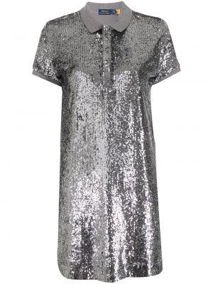 Платье мини короткое - серое Polo Ralph Lauren