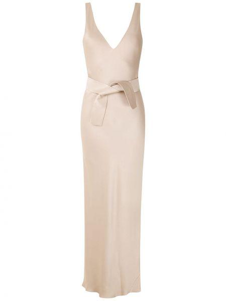 Открытое вечернее платье с открытой спиной без рукавов из вискозы Gloria Coelho