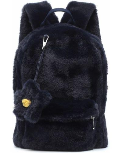 Szkoła niebieski plecak sztuczne futro Il Gufo