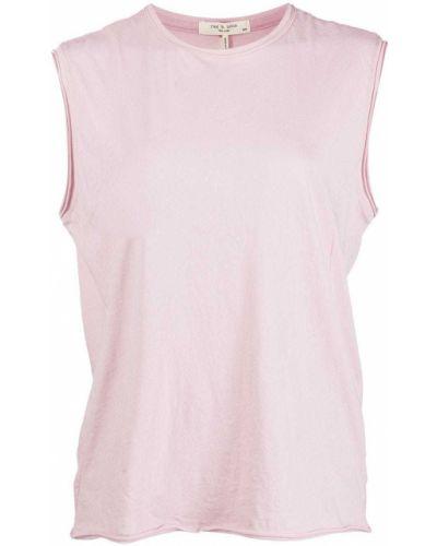 Różowy top bez rękawów bawełniany Rag & Bone
