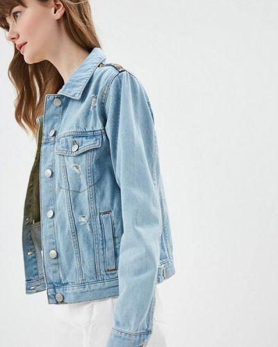 Джинсовая куртка весенняя голубая Ostin