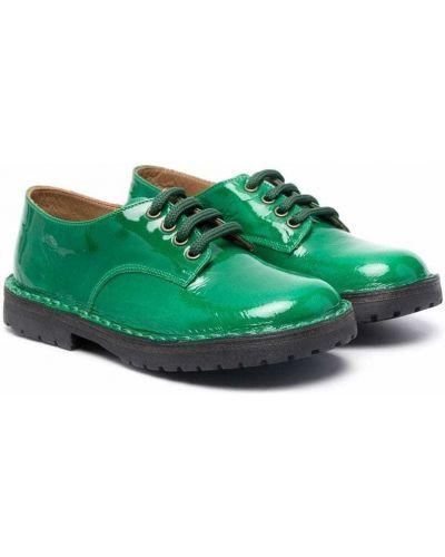 Półbuty skórzane - zielone Pèpè
