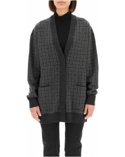 Szary z kaszmiru sweter Givenchy
