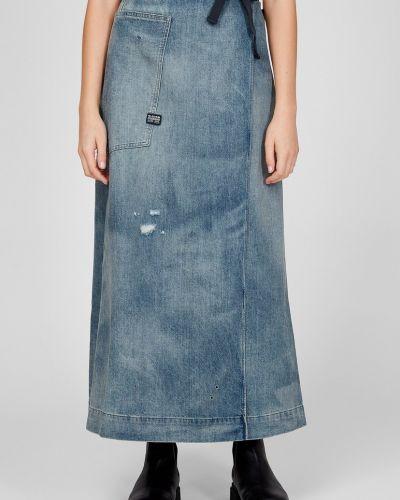 Джинсовая юбка - синяя G-star Raw