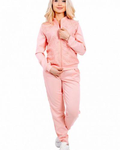 Костюмный розовый спортивный костюм Milalux