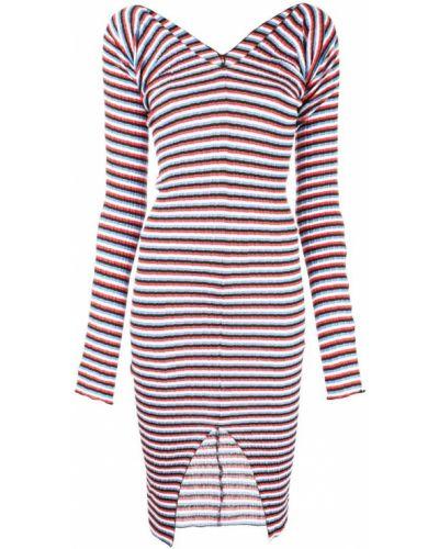 Приталенное платье миди с вырезом на молнии Sonia Rykiel