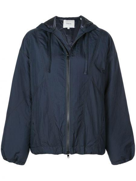 Нейлоновая синяя куртка с манжетами Vince