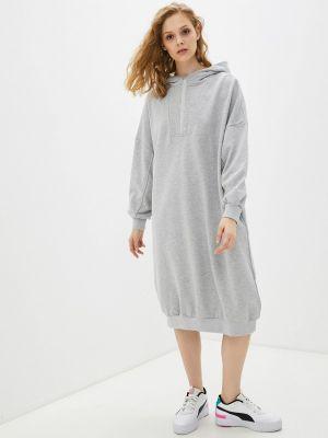 Серое платье B.style