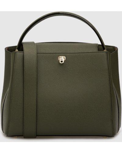 Кожаная зеленая кожаная сумка Valextra