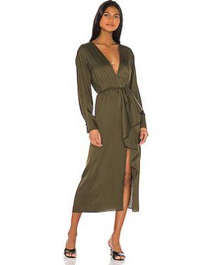 Платье миди на пуговицах с поясом L'academie