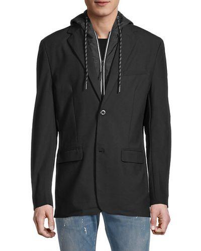 Черный удлиненный пиджак с подкладкой с длинными рукавами Projek Raw