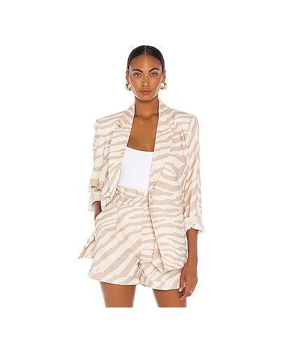 Пиджак с карманами с запахом на пуговицах из вискозы Anine Bing