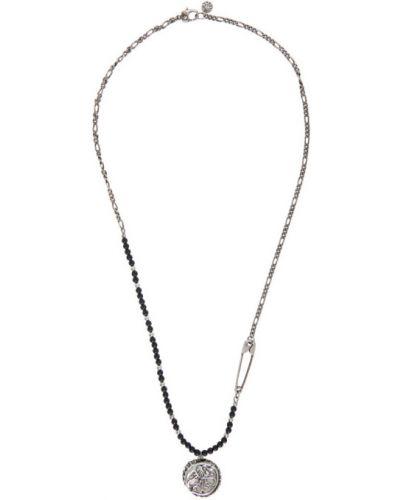 Серебряное ожерелье с бисером Alexander Mcqueen