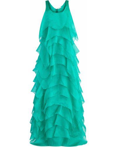 Платье макси шелковое с вырезом Emanuel Ungaro