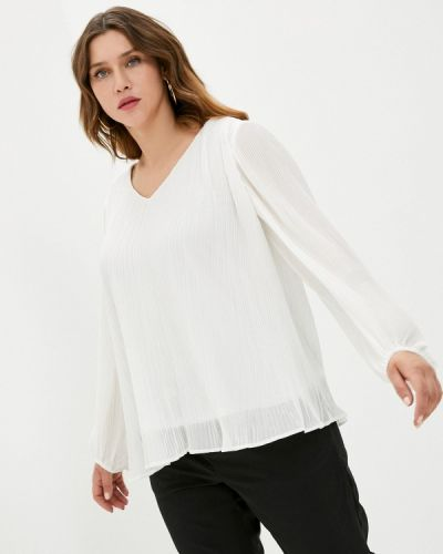 Белая блузка с длинными рукавами Zizzi