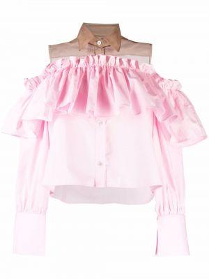Różowa klasyczna koszula Viktor & Rolf