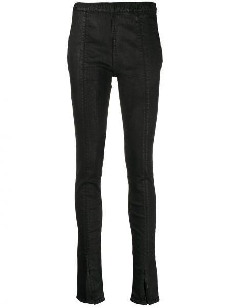 Брючные черные зауженные брюки с декоративной отделкой Rick Owens Drkshdw