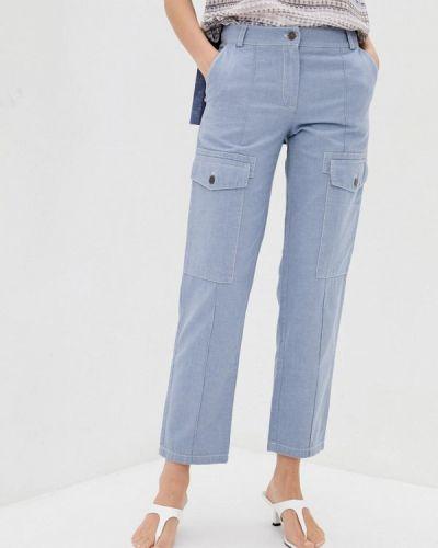 Прямые брюки - голубые Dolcedonna
