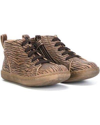 Кожаные хайтопы на шнуровке Pèpè