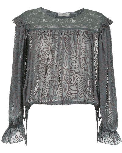 Блузка с длинным рукавом с рюшами прозрачная Martha Medeiros