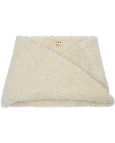 Белая шаль Marni